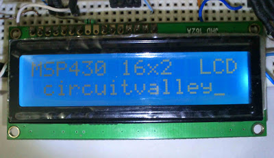 16×2 Char LCD with TI MSP430 Launch Pad
