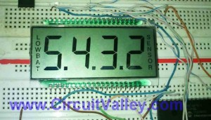 PIC MCU LCD Driver 4 commmon 7 Segmented LCD  & PIC16F917