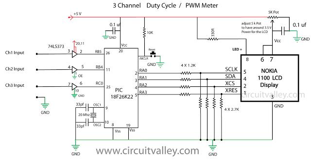 800KHz 3 Channel PWM Meter Duty Cycle Meter