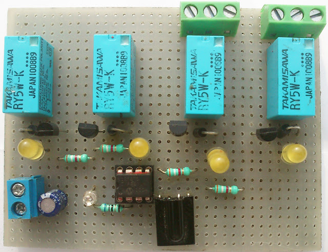 IR(infrared) Remote Control Relay Board with PIC 12F675 Microcontroller