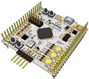 Pratham: Breadboardable PIC32 Breakout/Development Board With USB OTG , USB/SDCard/UART Bootloader