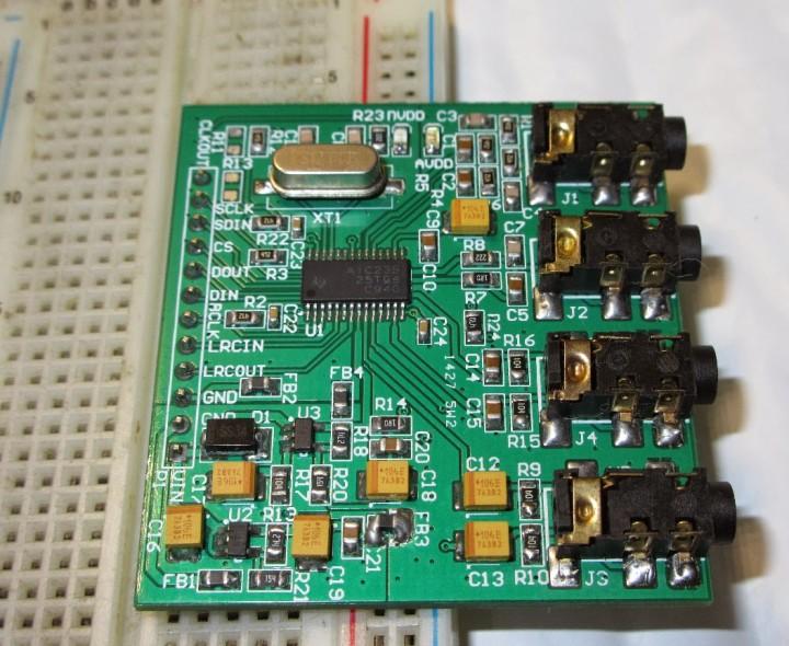 TLV320AIC23B Audio Codec Breakout Board