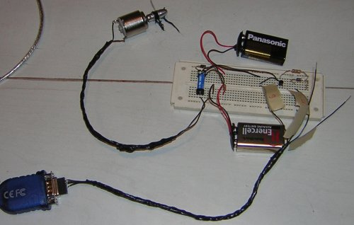 Controlling a relay and motor with a serial port