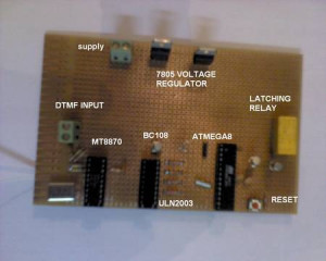 Phone to Microcontroller interfacing with DTMF