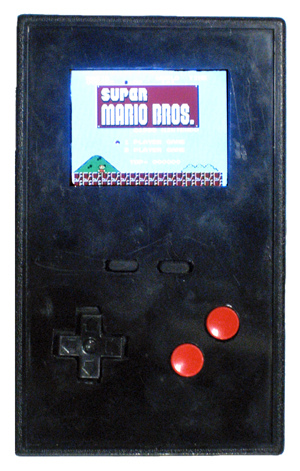 A portable Nintendo game