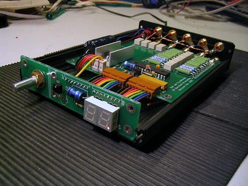 Audio Volume Relay Attenuator with IR Control