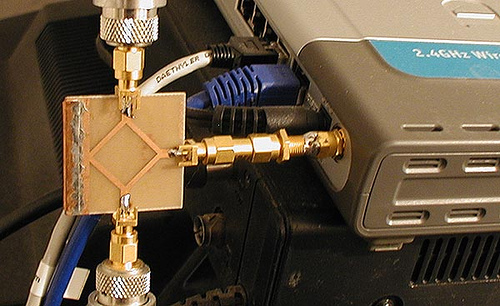 A two port 3 dB splitter for 13 cm and WLAN
