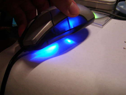 Blue LED mouse