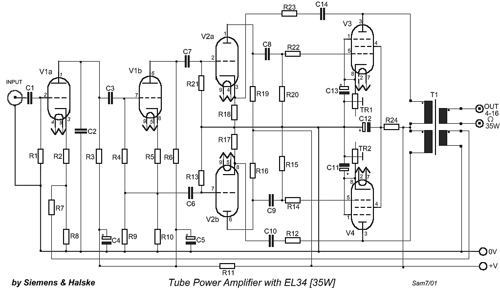 Tube Power Amplifier with EL34 – 35W