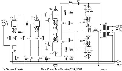Tube Power Amplifier with EL34 – 35W
