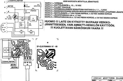 230V AC motor controller