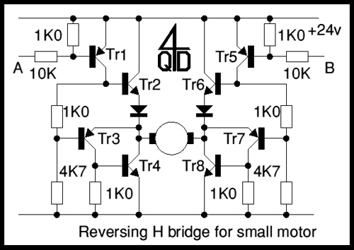 H bridge switch for small motors