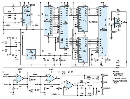 10-octave audio generator