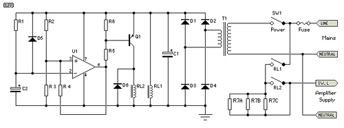 SoftStart Circuit for Power Amps