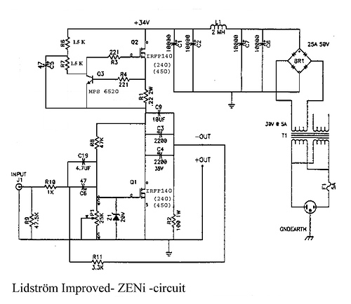 Lidstr?m Improved ZEN I Class A FET Amplifier