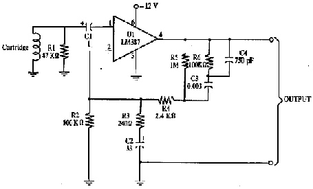 Magnetic cartridge amplifier