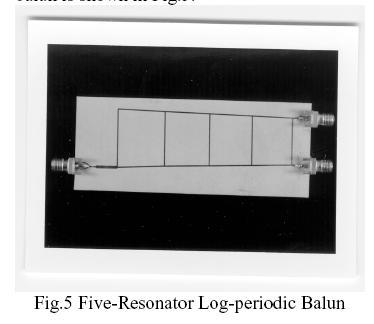 Wideband, Planar, Log-Periodic Balun