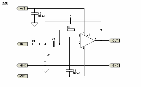 Multiple Feedback Bandpass Filter