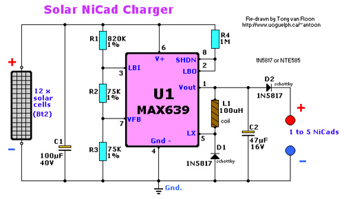 Solar Cell NiCd Charger
