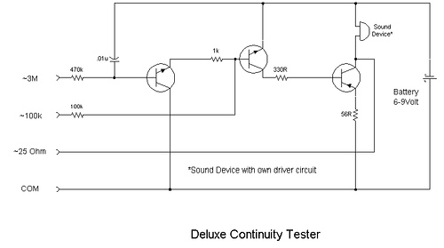 Continuity Tester Low-Voltage