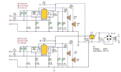 Quadraphonic Amplifier