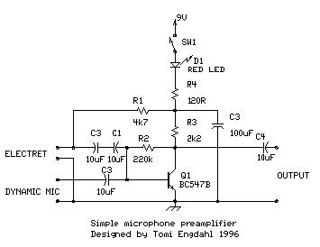Simple Microphone Amplifier