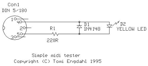 Simple MIDI tester