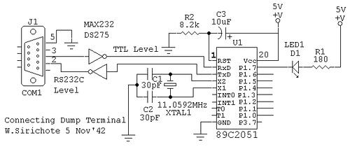 Connecting dumb terminal