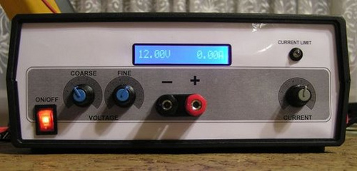 Microcontroller Voltmeter or Ammeter with LCD