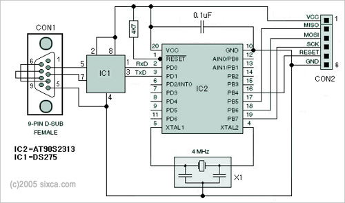 AVR ISP Programmer (In-Sytem programmer) for ATMEL