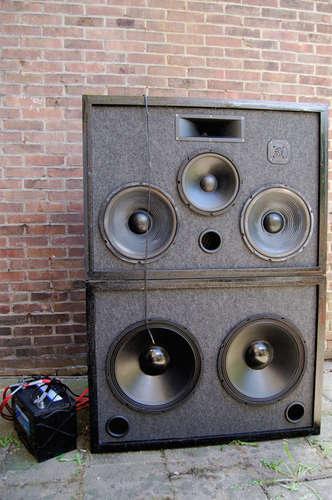 Outdoor 3-Way Speaker Sound System