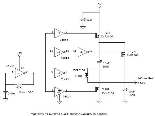 Charge Pump Efficiently Divides Supply Voltage