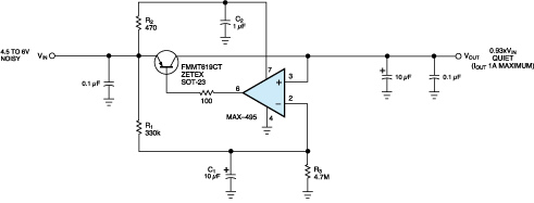 Circuit reduces VCC ripple in audio band
