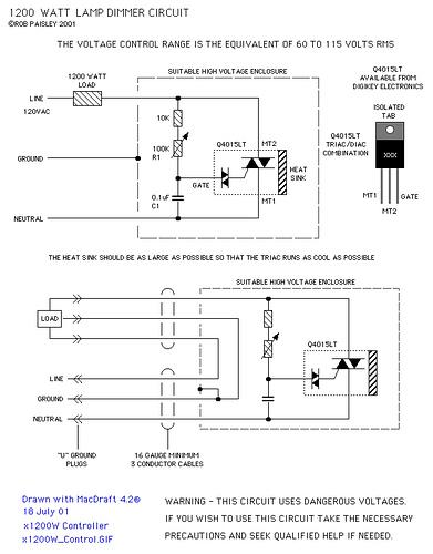 1200 Watt Lamp Dimmer