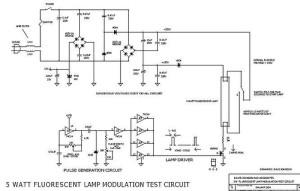 5W Fluorescent light intensity modulator