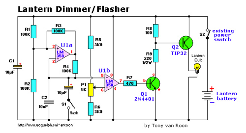 Lamp flasher/dimmer