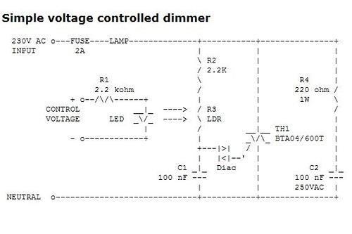 Light dimmer circuits