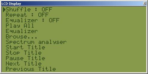 WinAmp Matrix Orbital/Crystalfontz/HD44780 LCD Plugin