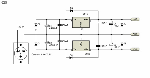 Power Supply for Preamplifiers