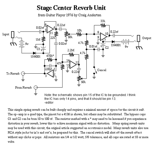 Stage Center Reverb Unit