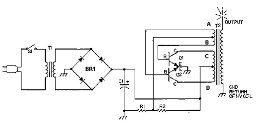 Solid State Tesla Coil or High Voltage Generator