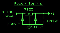 Simple 5V power supply for digital circuits