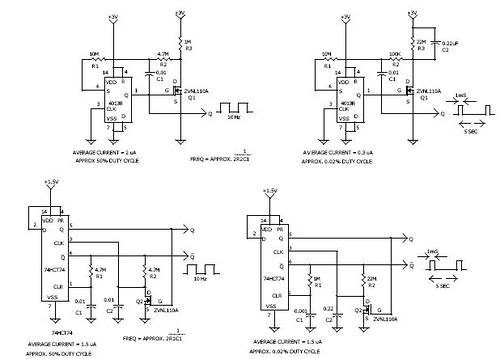 D – FLIP/FLOP Oscillators