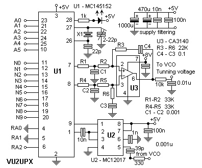 200 Channel Frequency Synthsizer for VHF Receiver