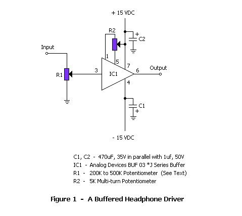 Buffered Headphone Driver/Preamplifier