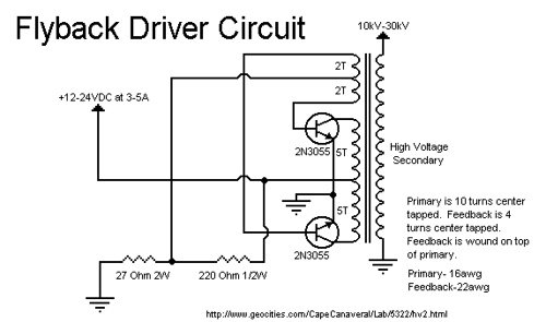 10 to 30KV Flyback Power Supply