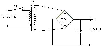 High Voltage High Current Power Supply