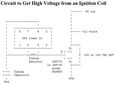 Get High Voltage from an Ignition Coil