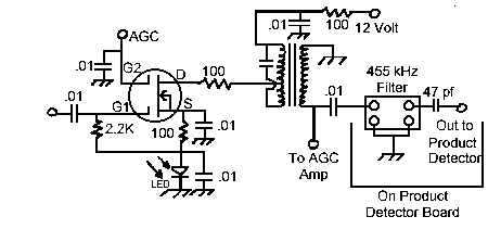 MOSFET IF Amplifier Circuit