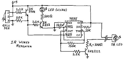 IR Remote control repeater circuit
